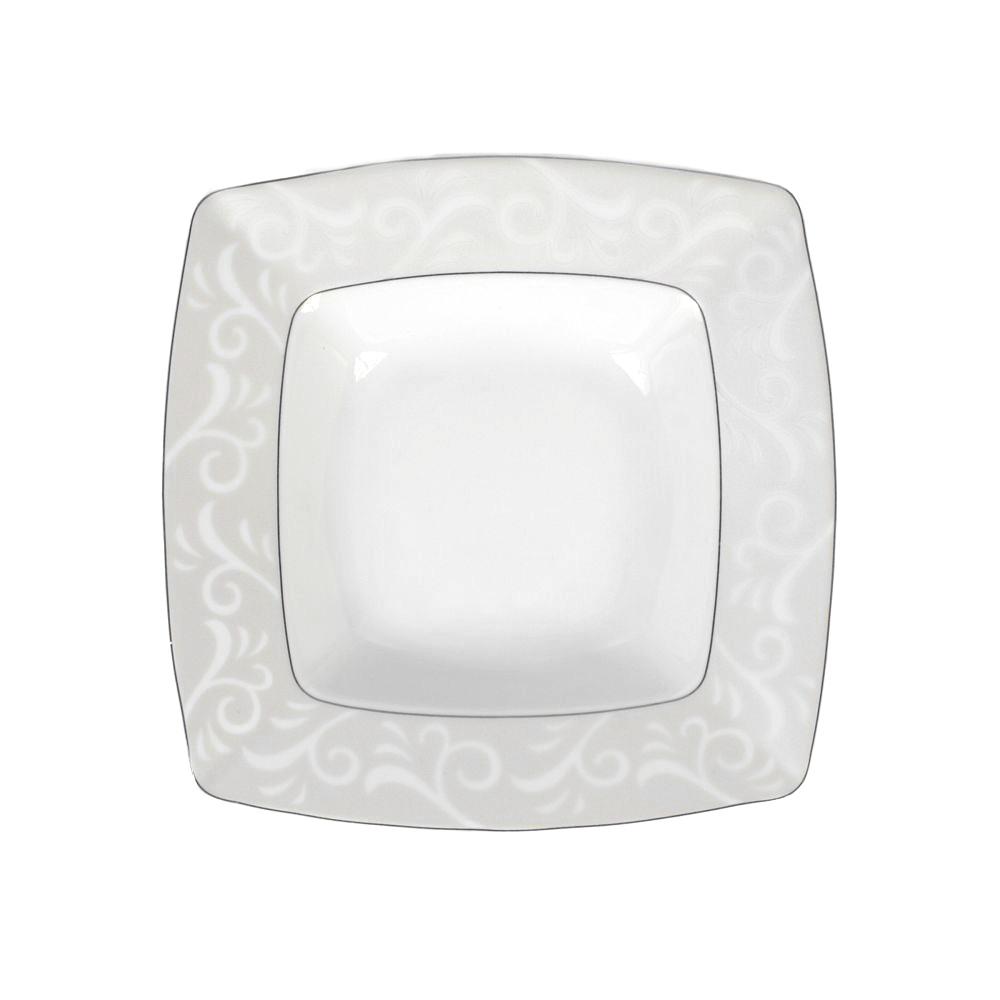 Assiette Creuse Carr E 21 5 Cm En Porcelaine Fine Blanche # Rangements Assietes Modernes