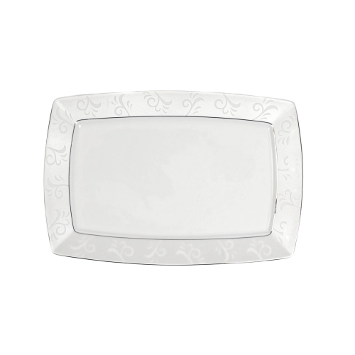 Tasse assiette plat rectangulaire en porcelaine for Service de table rectangulaire