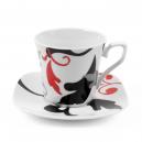 Tasse à thé 0,22 l avec soucoupe Hélianthème en porcelaine