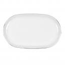 Plat ovale 33 cm Forsythia en porcelaine