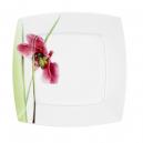 Assiette plate 25,7 cm Violette en porcelaine