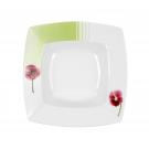 Assiette creuse 21,5 cm Violette en porcelaine