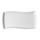 Plat rectangulaire 35 cm Bergenia en porcelaine