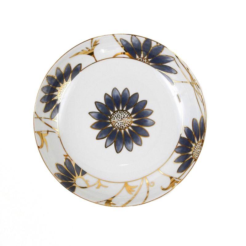assiette calotte 22 cm p tale bleut en porcelaine fine. Black Bedroom Furniture Sets. Home Design Ideas