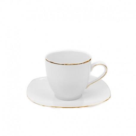 Tasse 200 ml avec soucoupe en porcelaine, grande tasse à café, service de vaisselle en porcelaine, art de la table et porcelaine