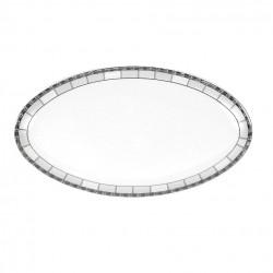 Plat ovale 42 cm Danse de l'écume en porcelaine