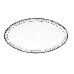 Plat ovale 42 cm Vague de neige en porcelaine
