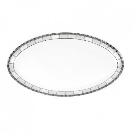 Plat ovale 42 cm danse de l'ecume en porcelaine