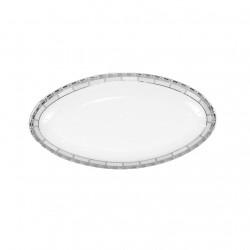 Ravier 23 cm danse de l'ecume en porcelaine