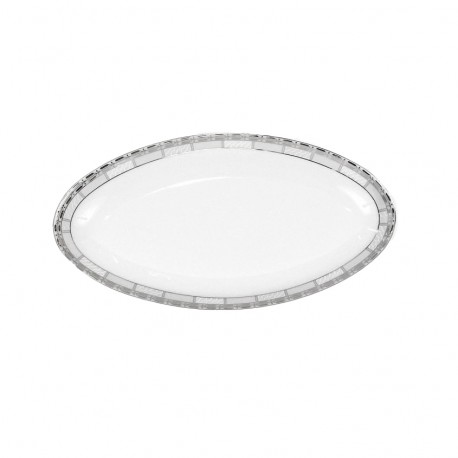 Plat ovale 33 cm Danse de l'écume en porcelaine