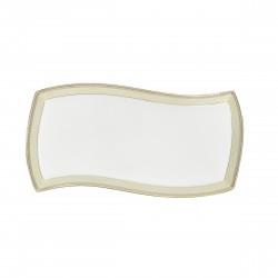 Plat rectangulaire 32 cm Elegance en porcelaine