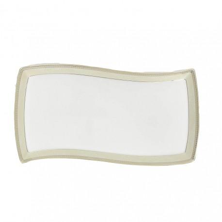 Plat rectangulaire 35 cm en porcelaine, service de vaisselle en porcelaine de grande qualité