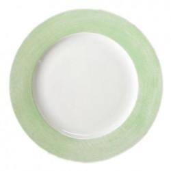 Assiette plate ronde à aile 27 cm Au pays des Coquelicots en porcelaine