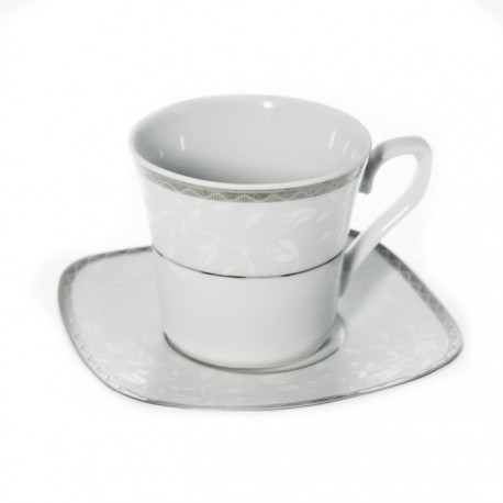 Tasse à thé 220 ml avec soucoupe Astrance en porcelaine