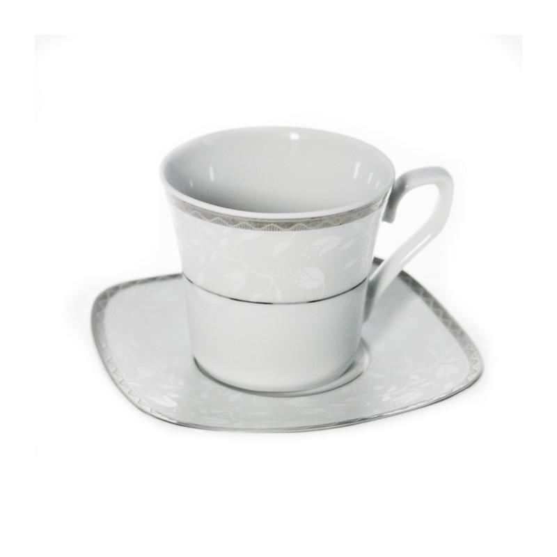 tasse th 220 ml avec soucoupe en porcelaine. Black Bedroom Furniture Sets. Home Design Ideas
