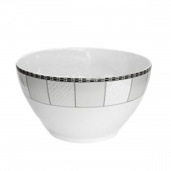 Saladier rond 25 cm Vague de neige en porcelaine