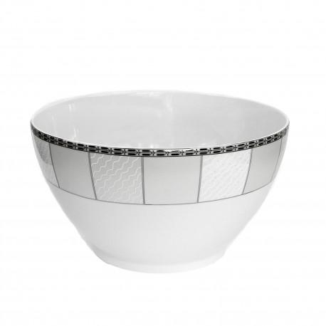Saladier rond 25 cm danse de l'ecume en porcelaine