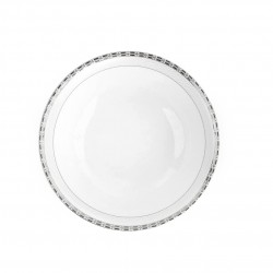 Saladier rond 23 cm Vague de neige en porcelaine