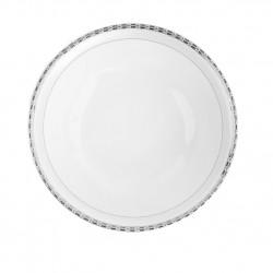 Saladier rond 26 cm Vague de neige en porcelaine