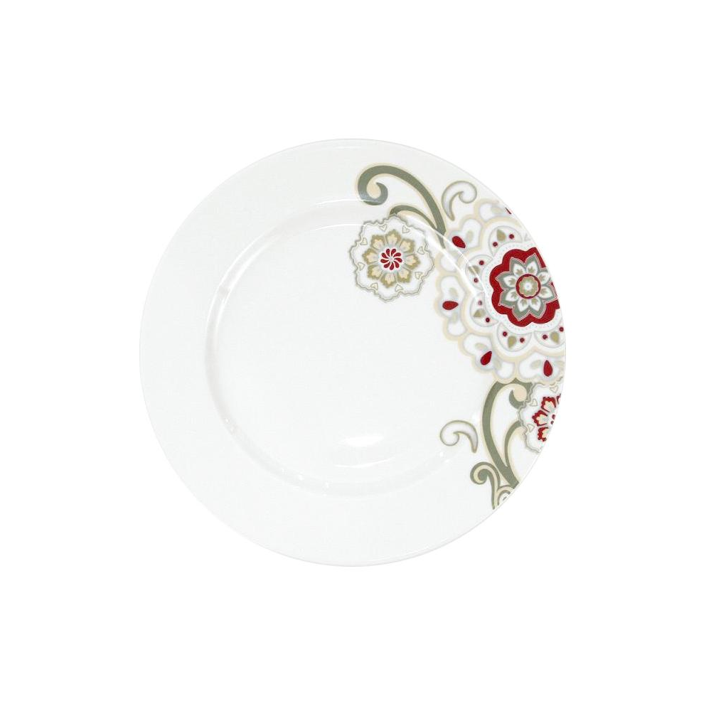 assiette plate aile 27 cm chant des pr s en porcelaine. Black Bedroom Furniture Sets. Home Design Ideas
