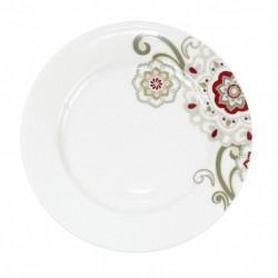 Assiette plate à aile 21 cm Chant des Prés en porcelaine