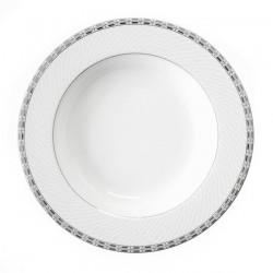 Assiette creuse à aile 22 cm Vague de neige en porcelaine