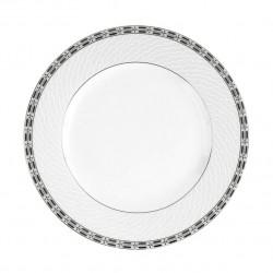 Assiette plate à aile 18 cm Vague de neige en porcelaine