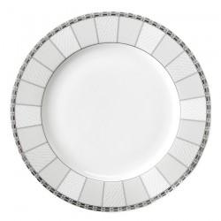 Assiette plate à aile 27 cm Vague de neige en porcelaine