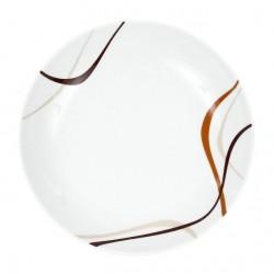 Assiette calotte, trio chocolat, service de vaisselle en porcelaine complet, art de la table et porcelaine