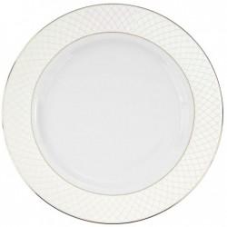 Plat à aile rond 32 cm en porcelaine, service complet de vaisselle en porcelaine