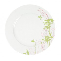Assiette plate ronde à aile 27 cm Lavatère en porcelaine