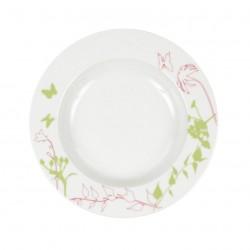 Assiette creuse ronde à aile 22,5 cm Lavatère en porcelaine