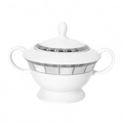 Sucrier 250 ml Vague de neige en porcelaine