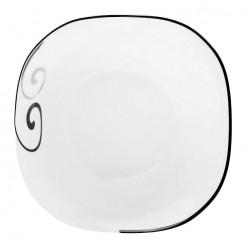 Saladier carré 20 cm Figuier en Eden en porcelaine