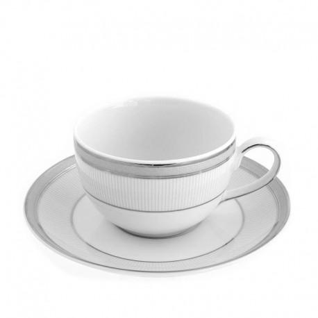 Tasse à thé 250 ml avec soucoupe, service à thé en porcelaine, art de la table et petit déjeuner