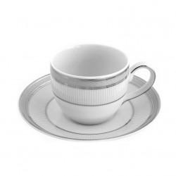 Tasse à café avec soucoupe en porcelaine, service de petit déjeuner, art de la table