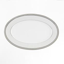 Plat ovale 33 cm Plaisir Enchanté en porcelaine