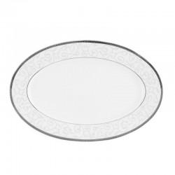 Plat ovale 33 cm Montbretia en porcelaine