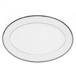 Plat ovale 36 cm Jardin Secret en porcelaine
