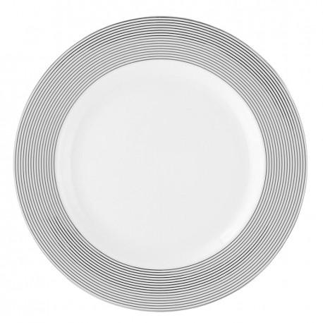 Assiette plate ronde à aile 27 cm Savonnier en porcelaine