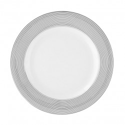 Assiette plate ronde à aile 21 cm Savonnier en porcelaine
