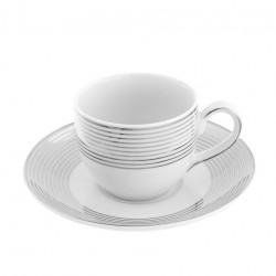 Tasse à café 100 ml avec soucoupe Esquisse Exquise en porcelaine