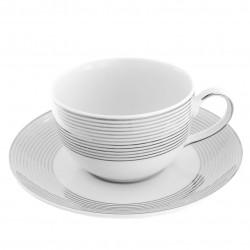 Tasse à thé 200 ml avec soucoupe Esquisse Exquise en porcelaine