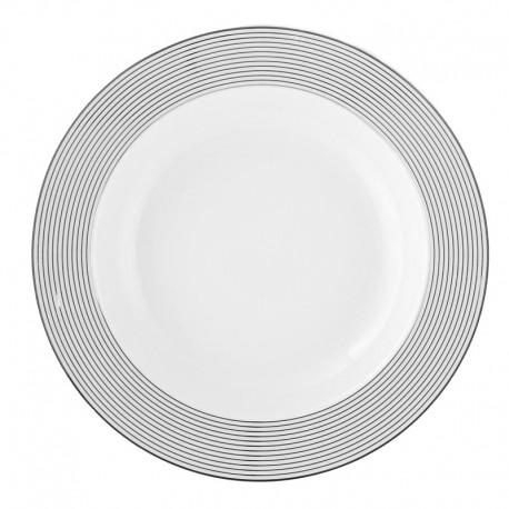 Assiette creuse à aile 22 cm Savonnier en porcelaine