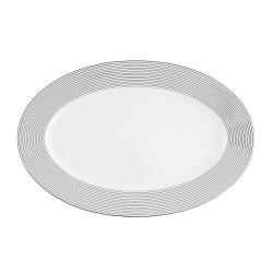 Plat ovale 33 cm Savonnier en porcelaine