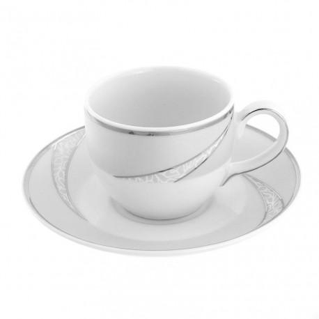 Tasse à café 100 ml avec soucoupe Lupin en porcelaine