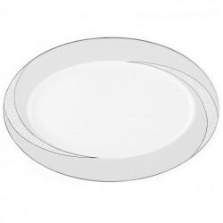 Plat ovale 36 cm Cristal Eternel en porcelaine
