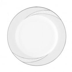 Assiette plate ronde à aile 21 cm Cristal Eternel en porcelaine