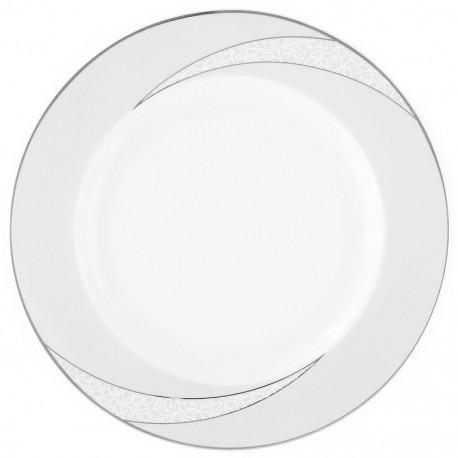 Assiette plate ronde à aile 27 cm Lupin en porcelaine