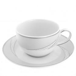 Tasse à thé 200 ml avec soucoupe Cristal Eternel en porcelaine
